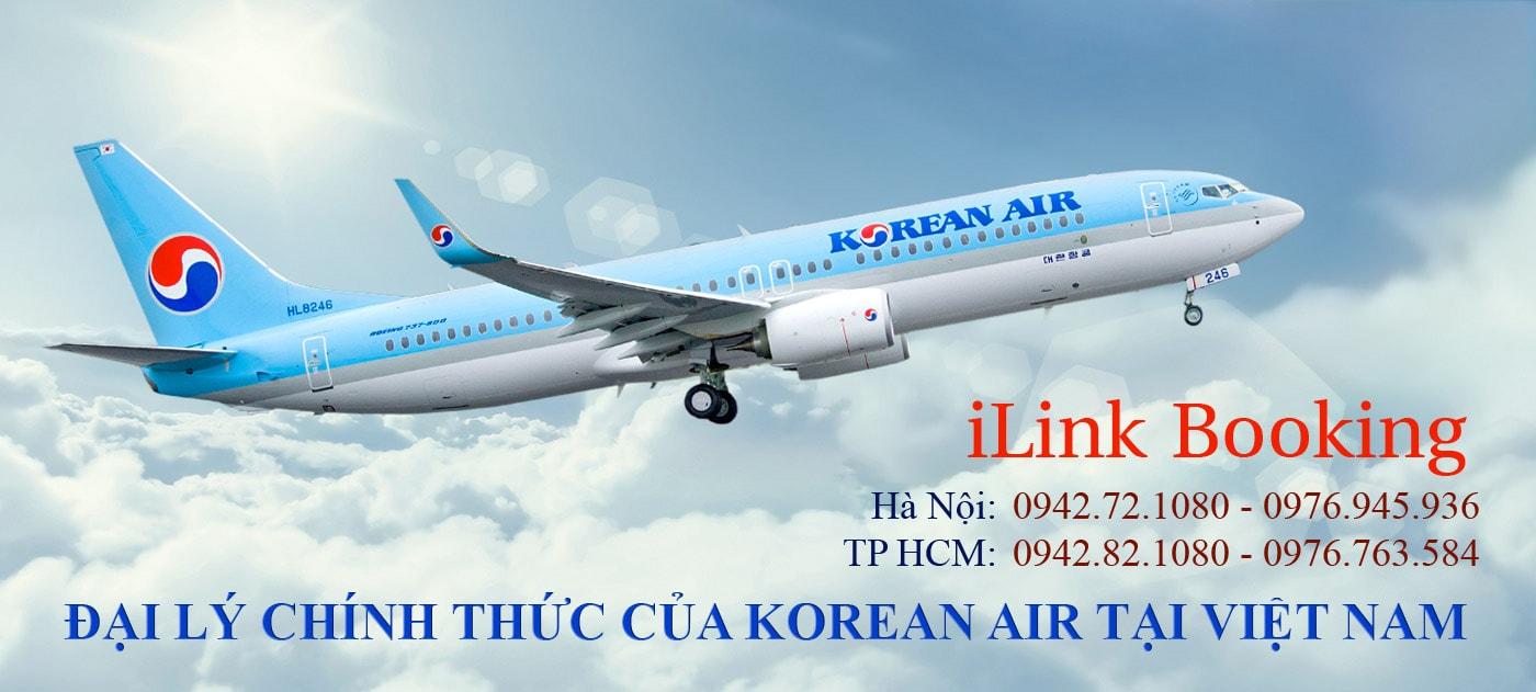 Vé máy bay đi mỹ hãng Korean Air