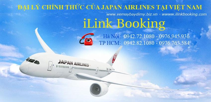 Vé máy bay đi mỹ hãng Japan Airlines