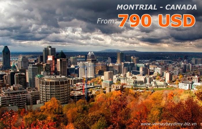 vé máy bay đi montreal giá rẻ