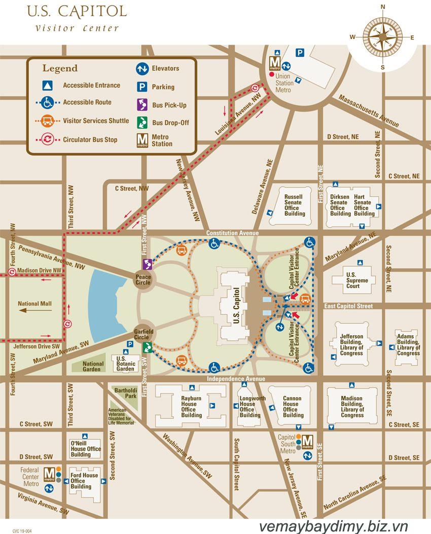 Bản đồ Điện Capitol