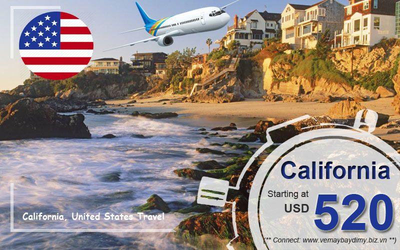 Vé máy bay đi California giá rẻ