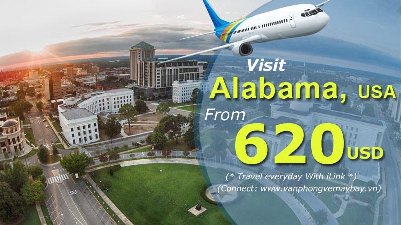 Vé đi Alabama USA
