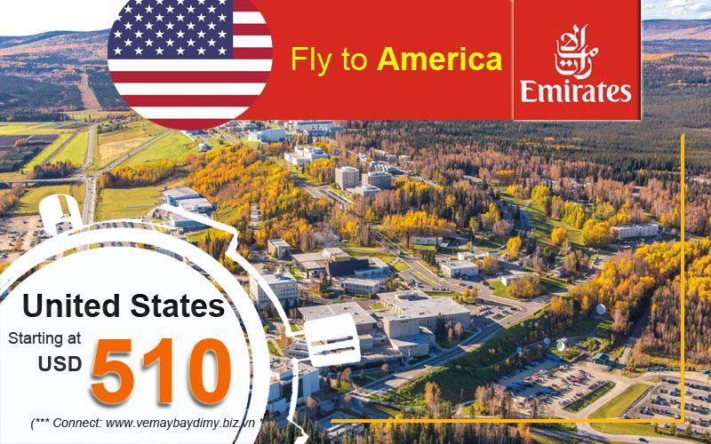 Đặt vé đi Mỹ hãng Emirates Airlines
