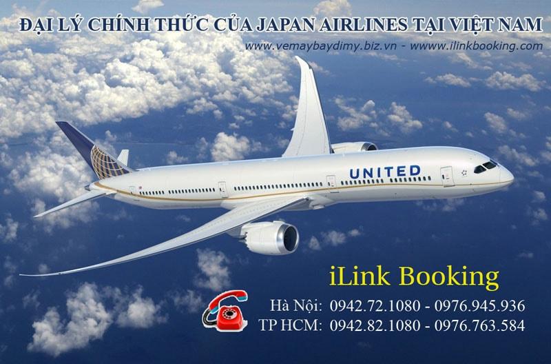 vé máy bay đi mỹ hãng united airlines