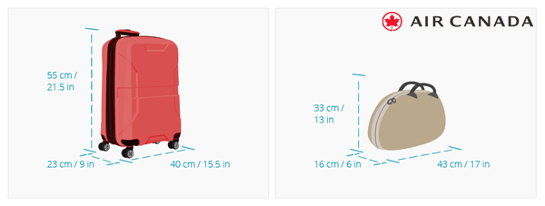 Quy định hành lý của Air Canada