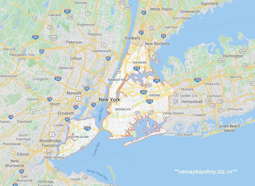Thành phố New York ở đâu ?