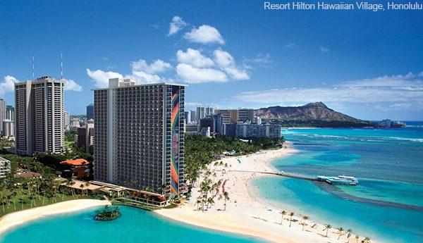 Vé máy bay đi Honolulu – Resort Hilton Hawaiian Village