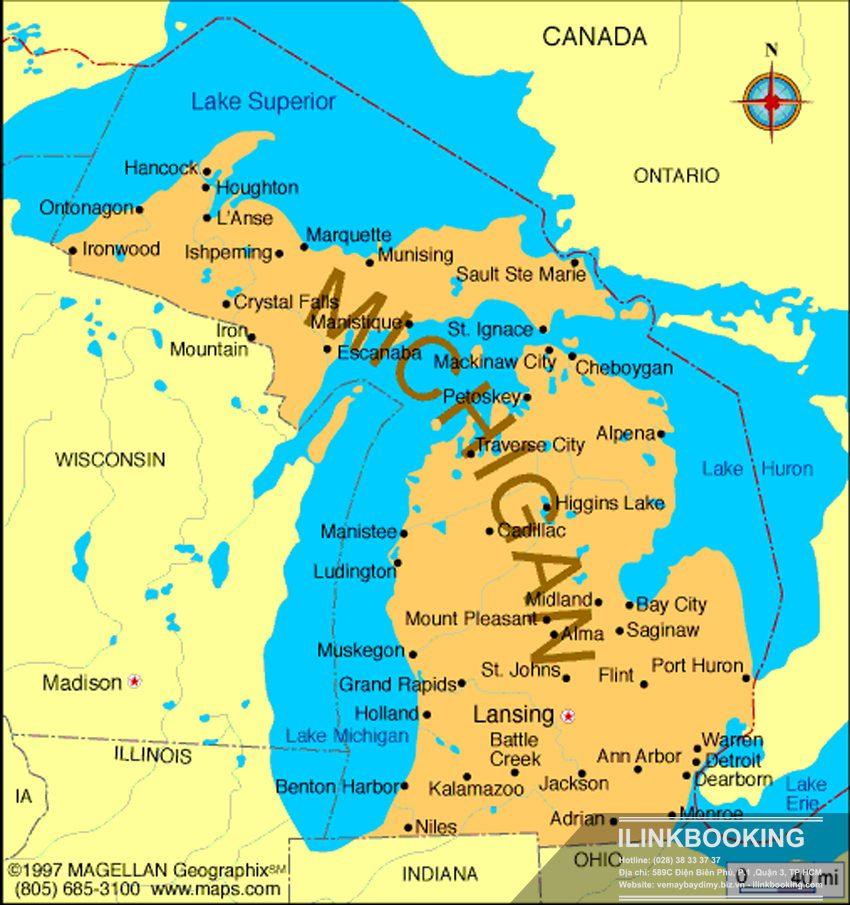 Bản đồ bang Michigan