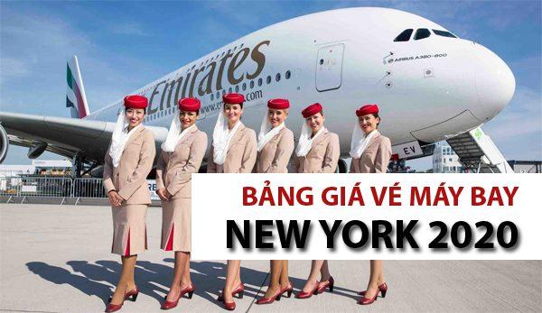 Bảng giá vé máy bay đi New York