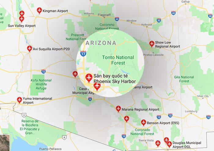 Danh sách các sân bay ở bang Arizona
