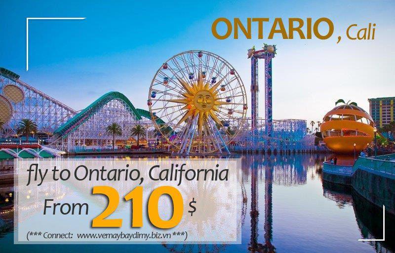 Đặt vé đi Ontario giá rẻ
