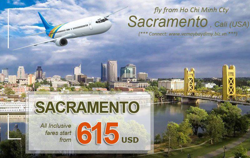 đặt vé đi sacramento California