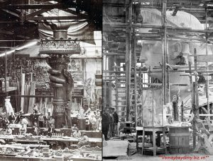 Phần đầu và ngọn đuốc Tượng nữ thần tự do được dựng ở Pháp