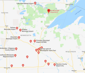 Sân bay ở Bang Minnesota