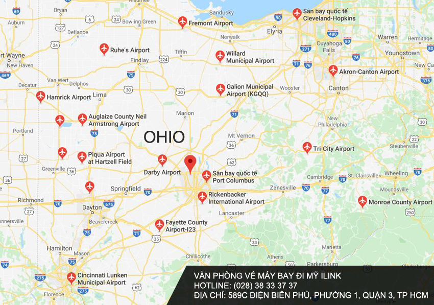 Danh sách Sân bay ở Bang Ohio