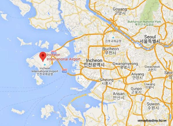 Vé máy bay đi Mỹ hãng Korean Air thì quá cảnh ở đâu