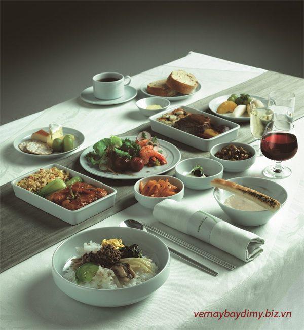 Suất ăn trên máy bay Korean Air
