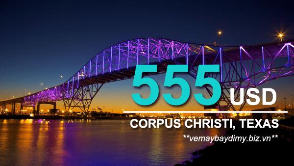 Vé máy bay đi Corpus Christi (Texas) giá rẻ