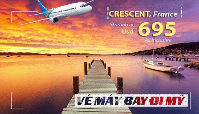 Vé máy bay đi Crescent City giá rẻ