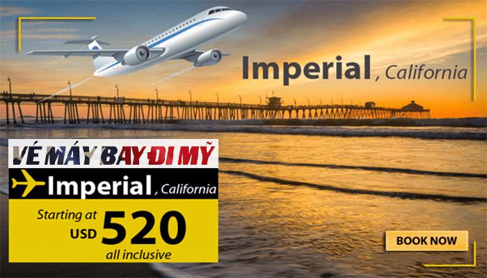 Vé máy bay đi Imperial Mỹ giá rẻ