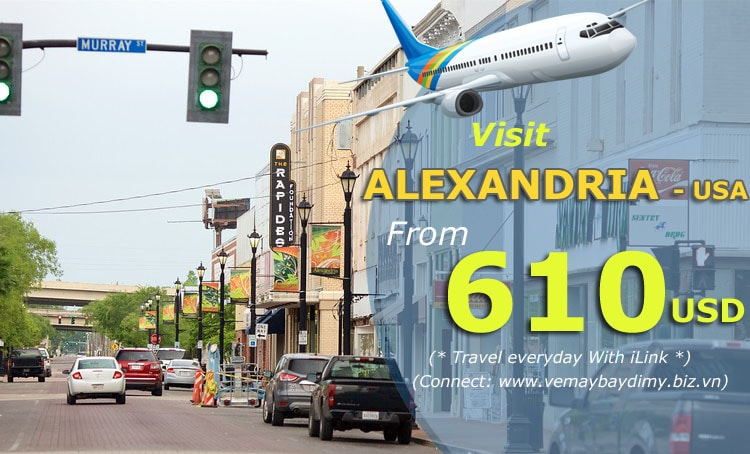 Vé máy bay đi alexandria Louisiana