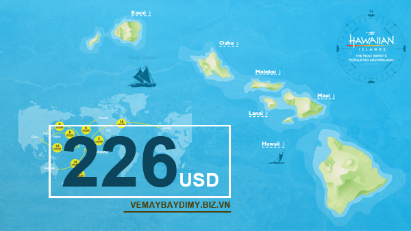 Vé máy bay đi Hawaii giá rẻ