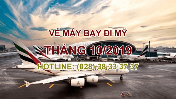 vé máy bay đi mỹ tháng 10/2019