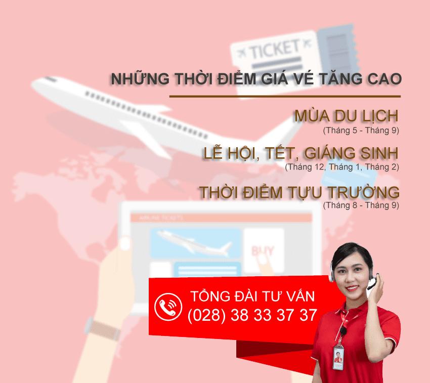 Những tháng Bay cao điểm từ Việt Nam đi Mỹ.
