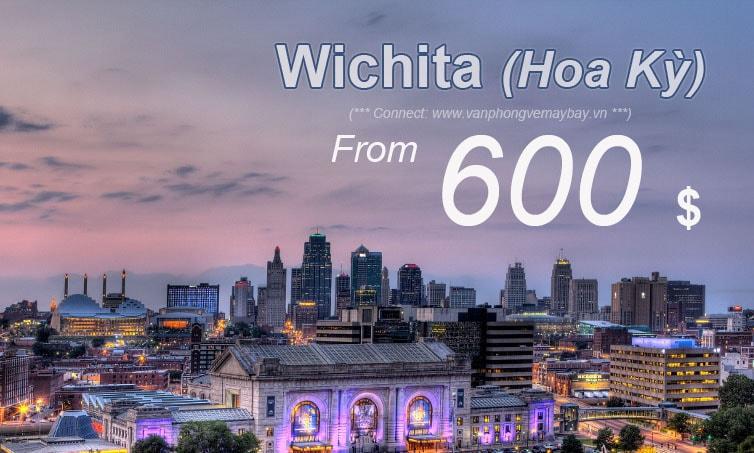 Vé máy bay đi Wichita giá rẻ