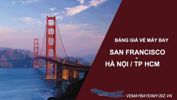 Bảng giá vé máy bay từ San Francisco về Việt Nam